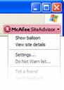 McAfee SiteAdvisor - бесплатная утилита для проверки надежности посещаемых сайтов